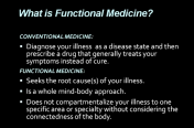 Functional Medicine Overview